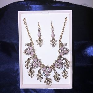 Jewelry - Purple and Gold Necklace Set